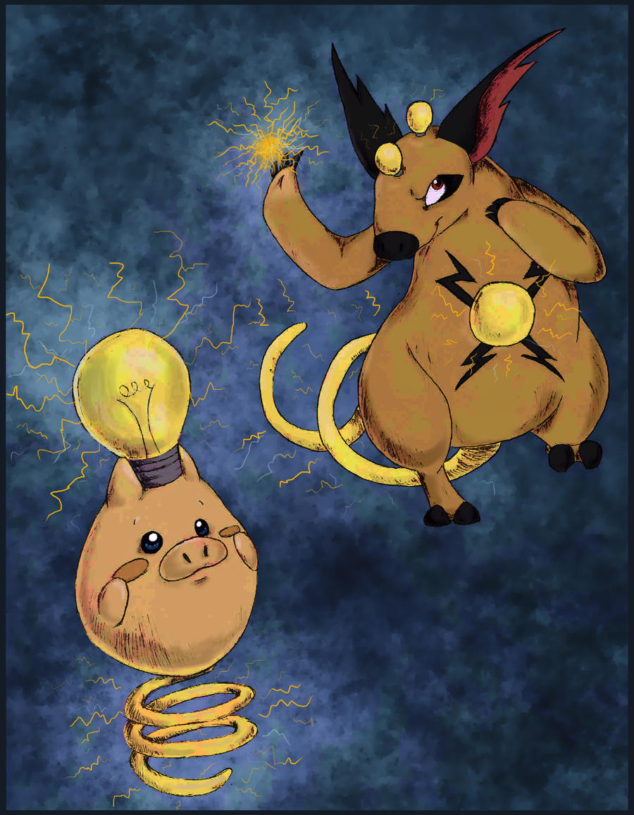 Electric Spoink and Grumpig by Leaf-of-Dawn