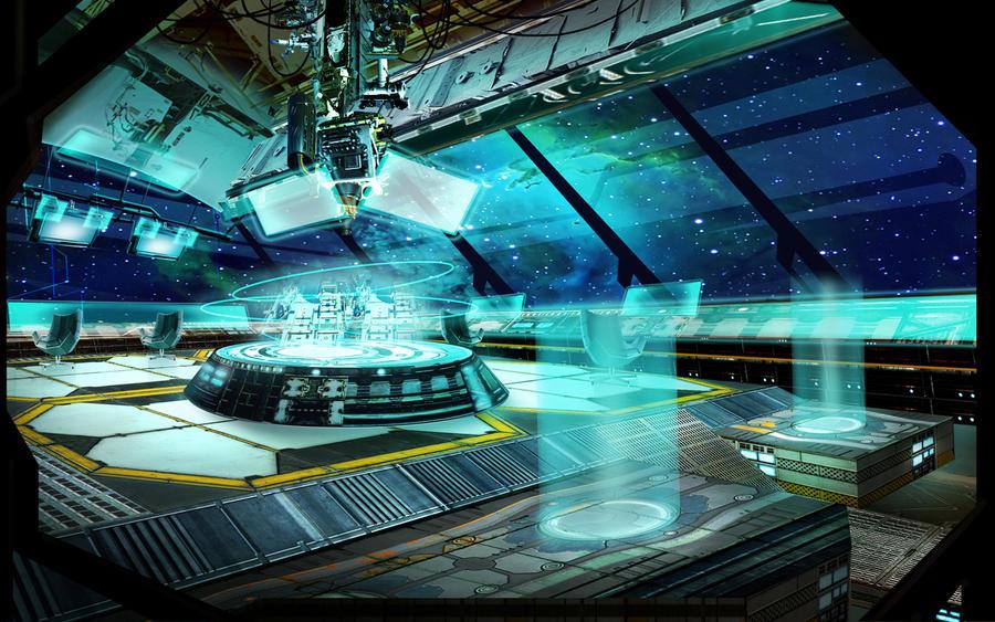 Space ship bridge concept by monpuasajr on deviantart for Futuristic control room