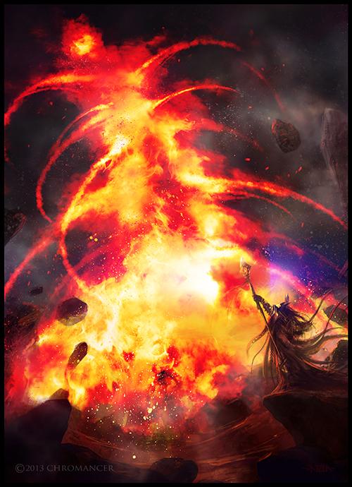 Flame Elemental by monpuasajr