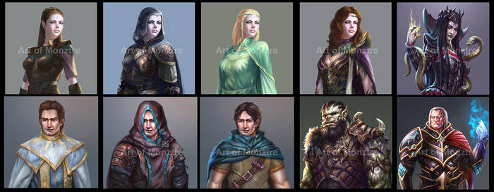 Game Character Portraits