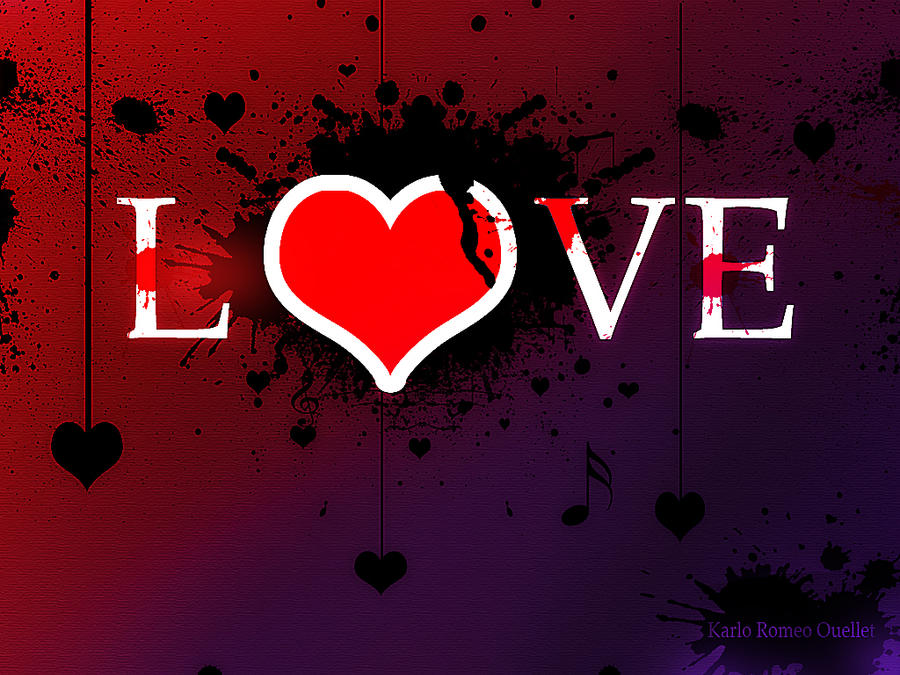 I Love You Wallpaper In Blood : Wallpaper LOVE BLOOD KrO by karloromeo on DeviantArt
