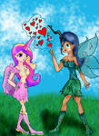 Queen chrysalis and Princess Cadence