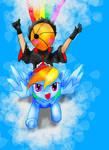 Tobi and Rainbow Dash