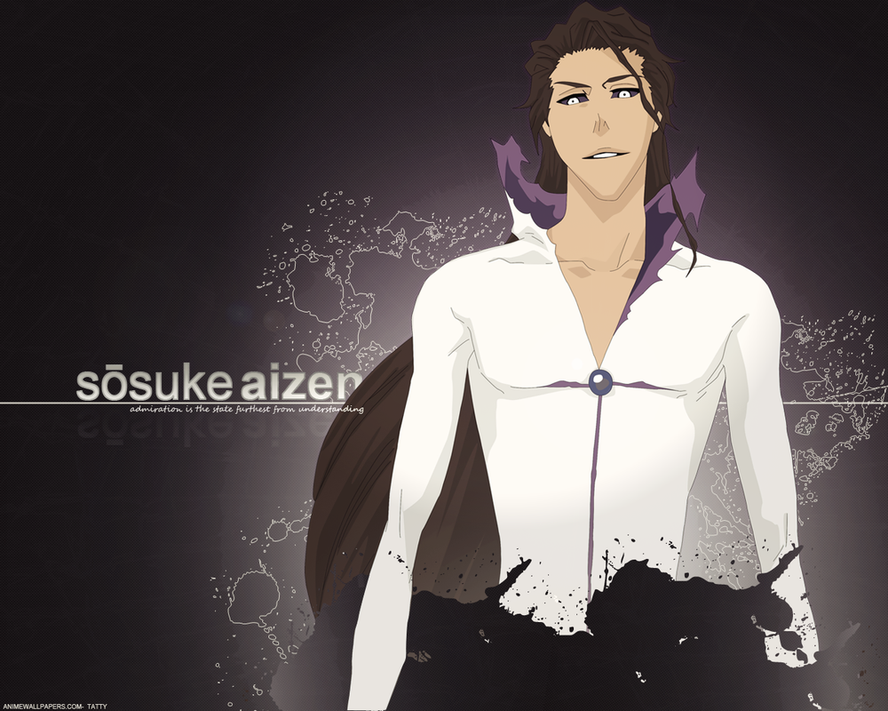 Aizen Sosuke Wallpaper by TattyDesigns