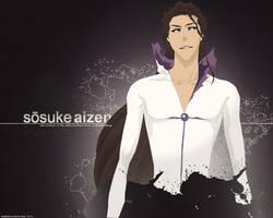 Aizen Sosuke Wallpaper by TattyDesigns