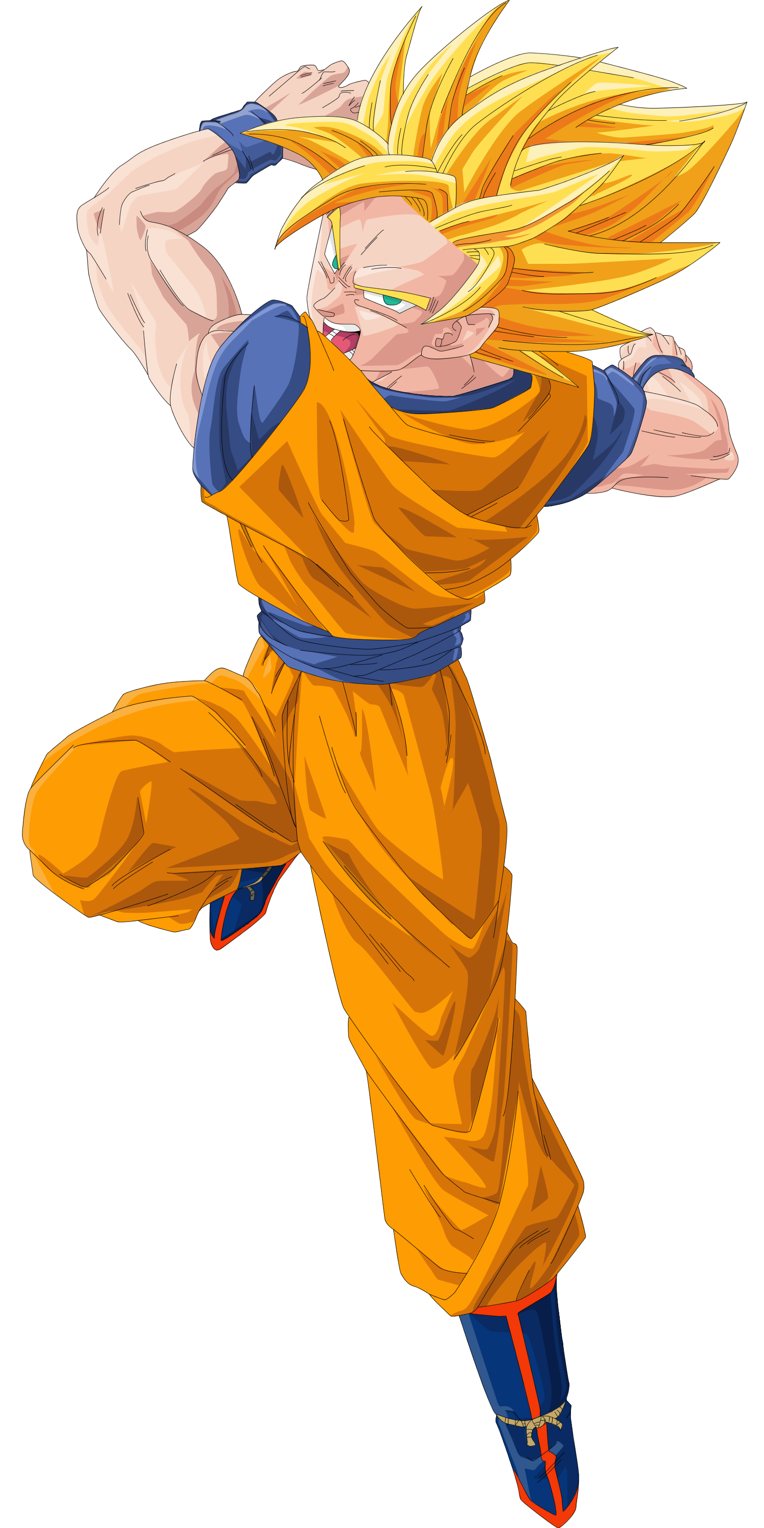 Son Goku Vector Render/Extraction PNG by TattyDesigns on ...