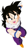 Son Gohan Render/Extraction PNG by TattyDesigns