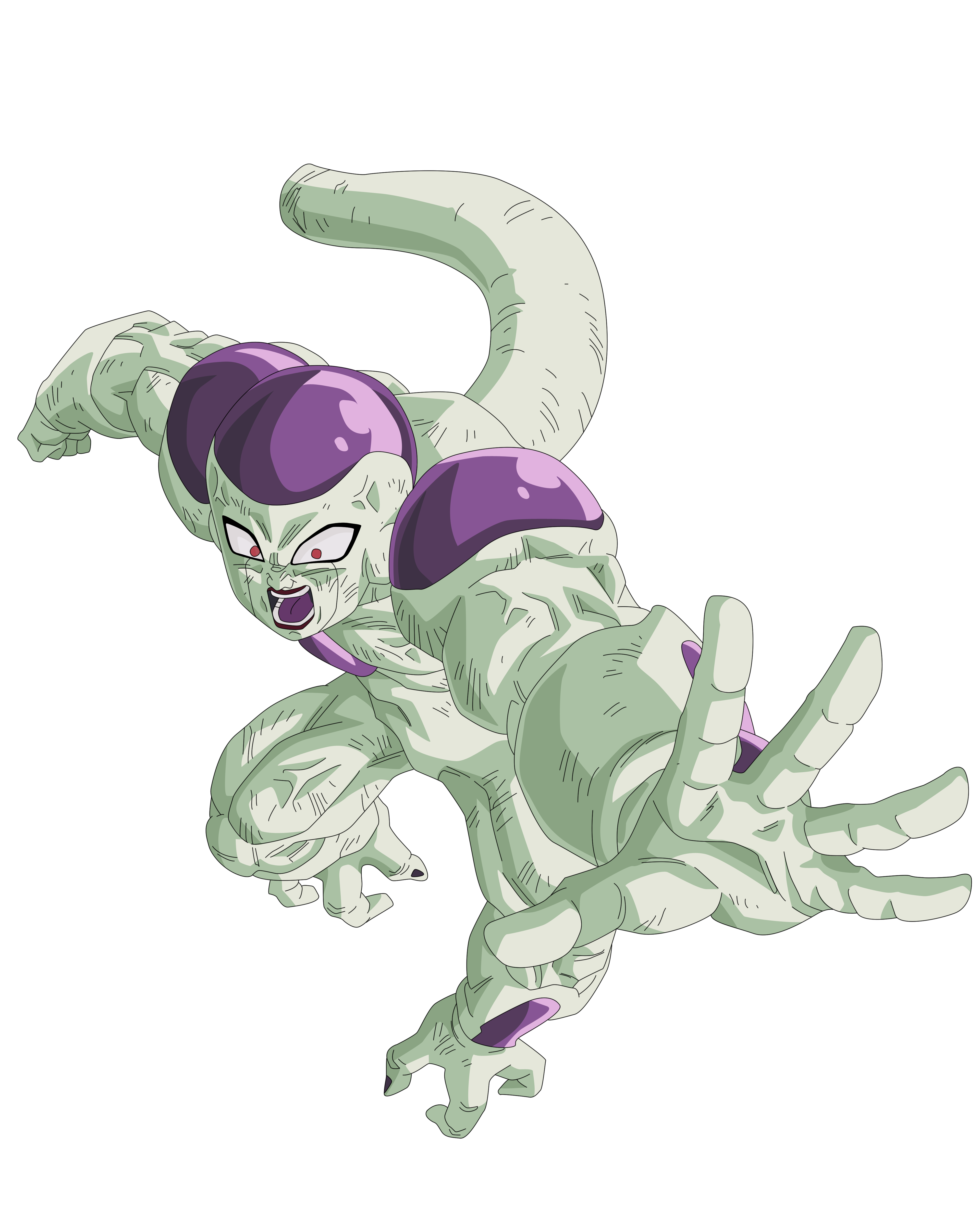 Frieza Final Form Render/Extraction PNG by TattyDesigns