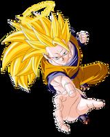 SSJ 3 Son Goku Render/Extraction PNG by TattyDesigns