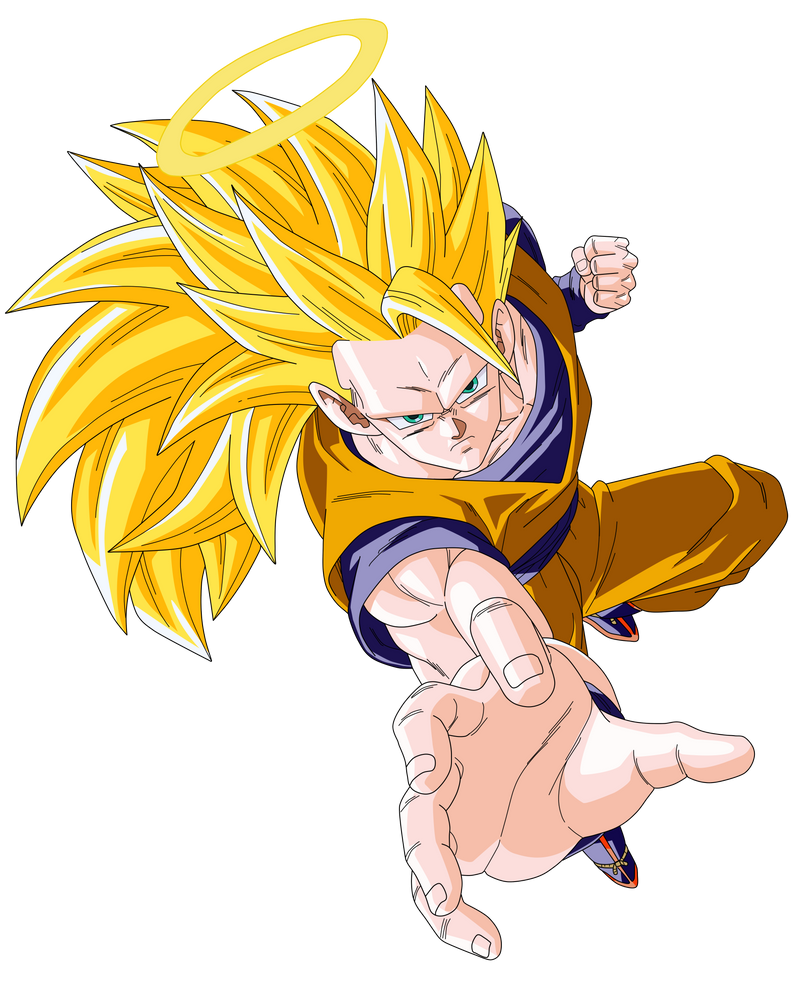 SSJ 3 Son Goku Render/Extraction PNG by TattyDesigns on DeviantArt