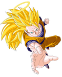 SSJ 3 Son Goku Render/Extraction PNG