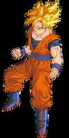 Goku SSJ 1 Render/Extraction PNG by TattyDesigns