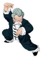 Jackie Chun/Master Roshi   Render/Extraction PNG by TattyDesigns