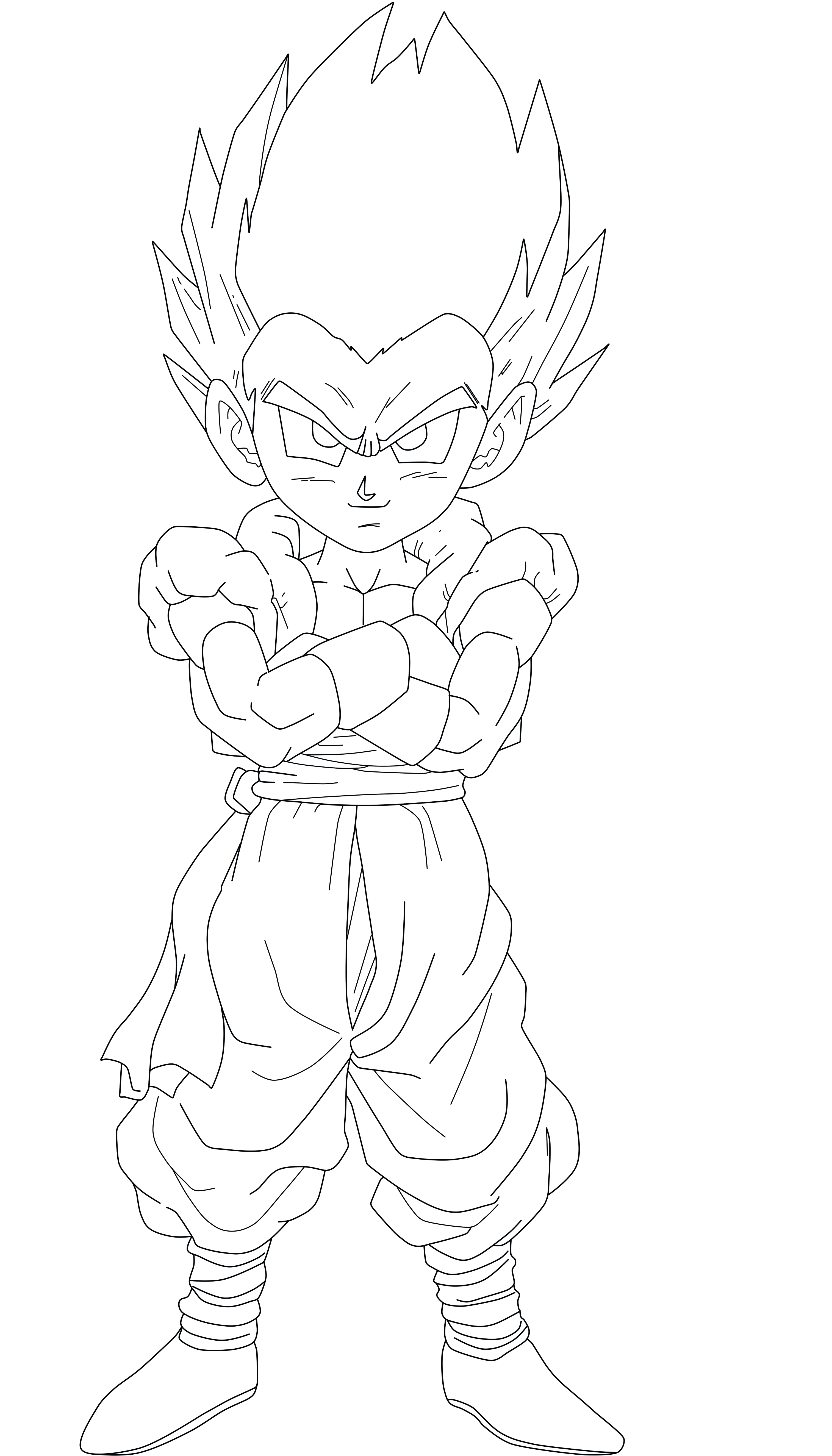 Line Drawing Png : Ssj gotenks free coloring pages