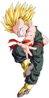 Kid Trunks SSJ Vector Render/Extraction PNG by TattyDesigns