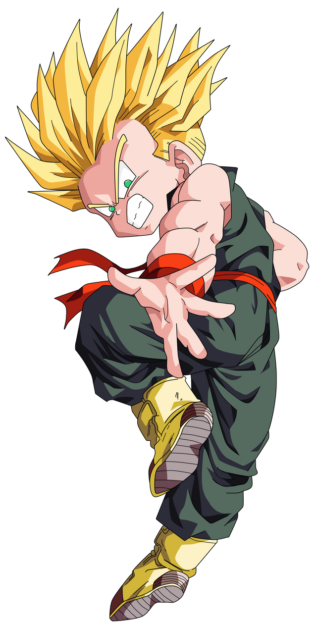 kid trunks ssj vector render extraction png by