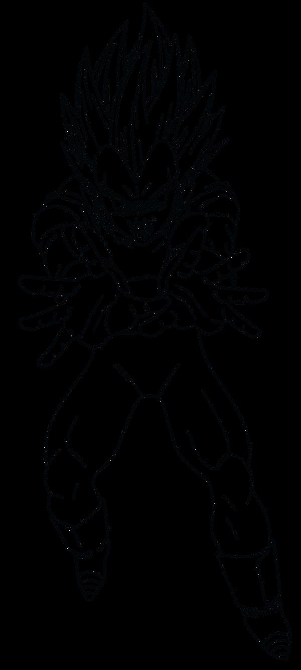 Zoella Line Drawing : Vegeta super saiyan free colouring pages