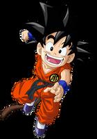 Kid Goku Vector Render/Extraction PNG by TattyDesigns