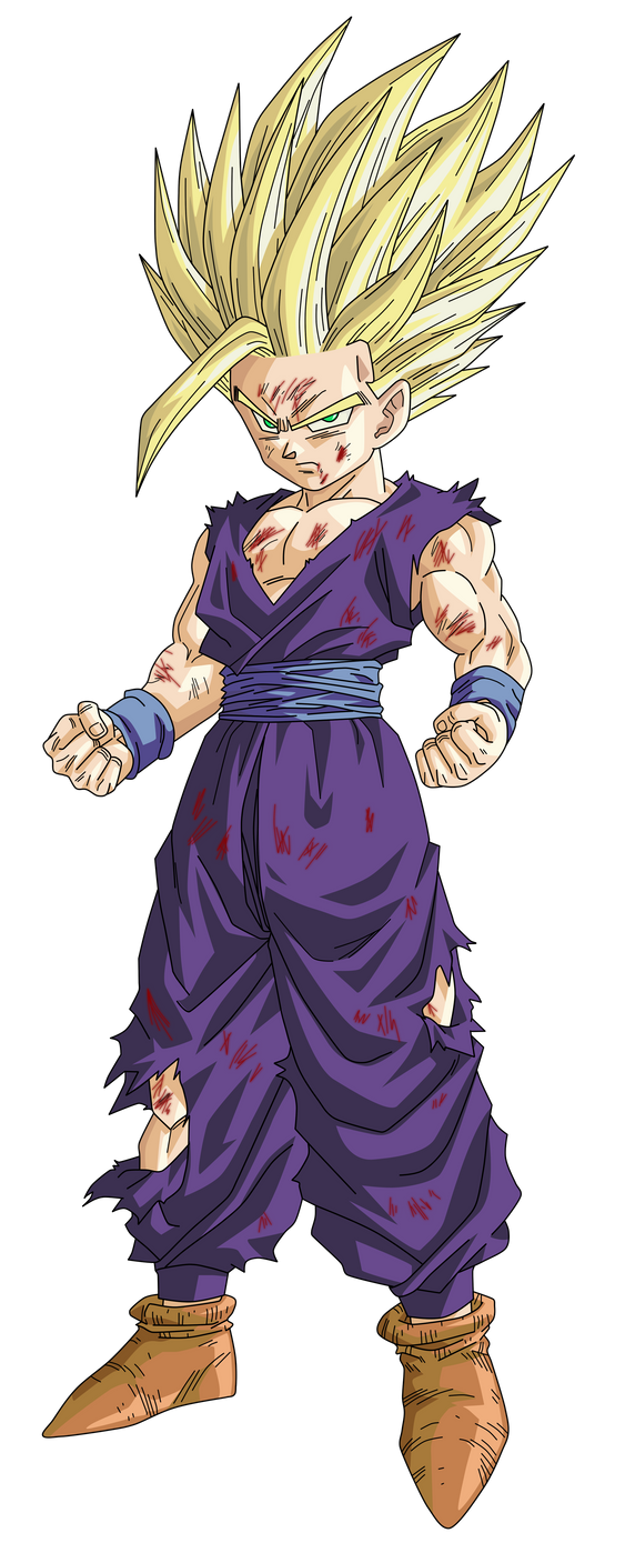 SSJ 2 Gohan Render/Extraction PNG by TattyDesigns