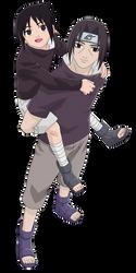 Sasuke and Itachi Uchiha Render/Extraction PNG by TattyDesigns