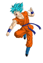 Super Sayin Blue (SSB) Goku Render/Extracton by TattyDesigns