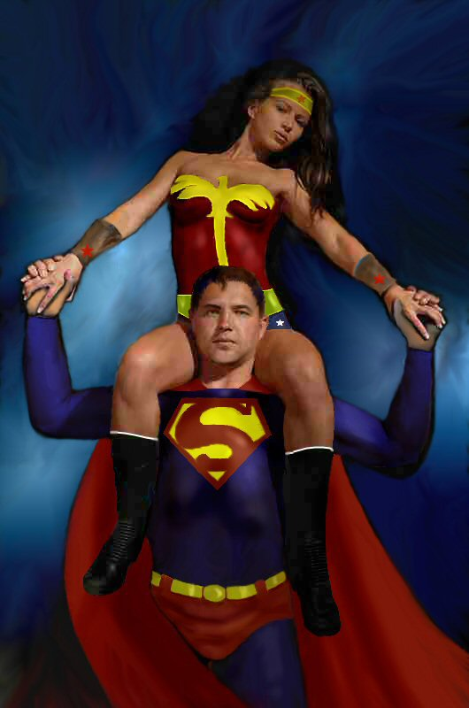 Superman with Wonder Woman by dan457 on DeviantArt