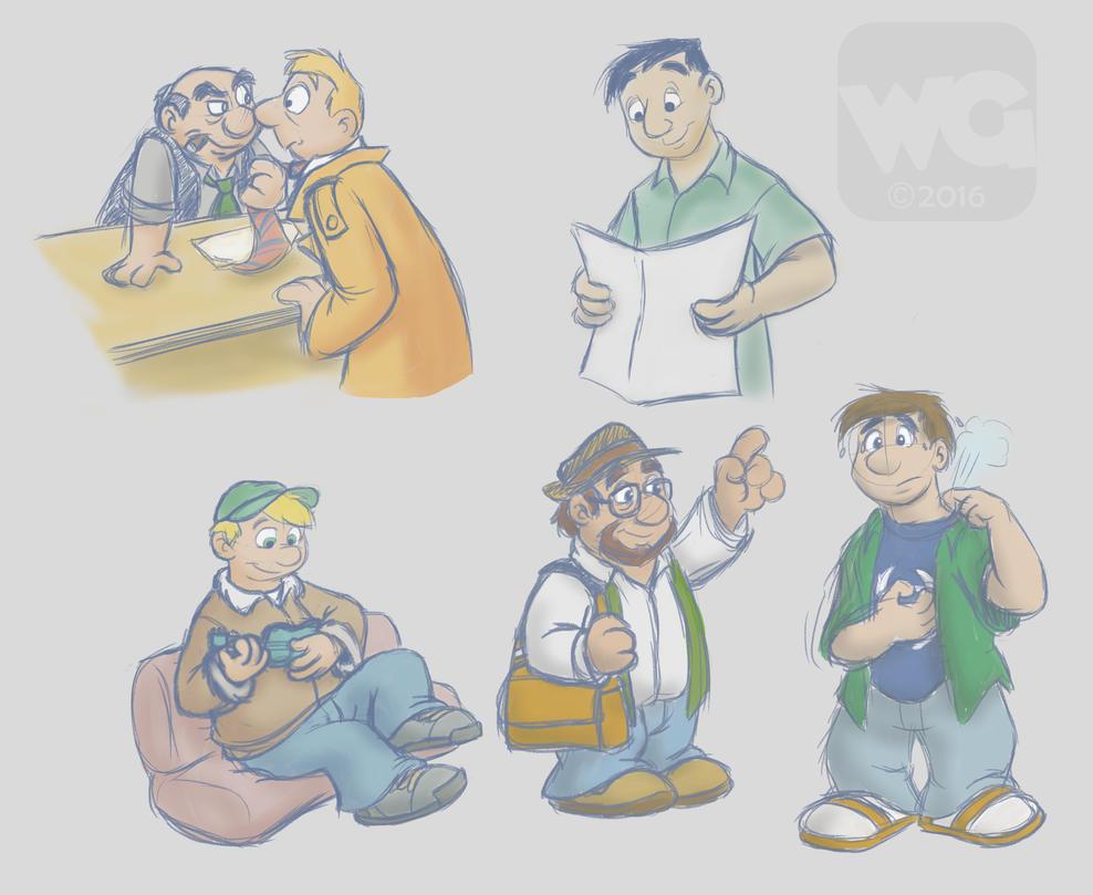 Weekend Sketch Dump (2-20) by Kresblain