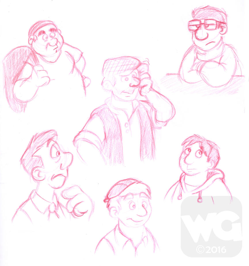 Sketch Dump - 3-3-2016 by Kresblain