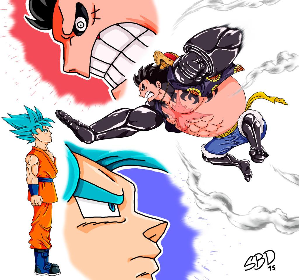 Goku Ssgss X Luffy Gear 4 By SantiagoBD On DeviantArt