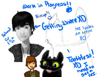 Toothless and Hiccup  WIP by EquineGraphics
