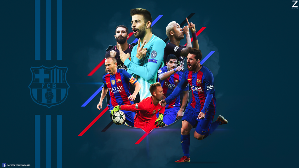 fc barcelona desktop wallpaper by shotikozumbulidze on