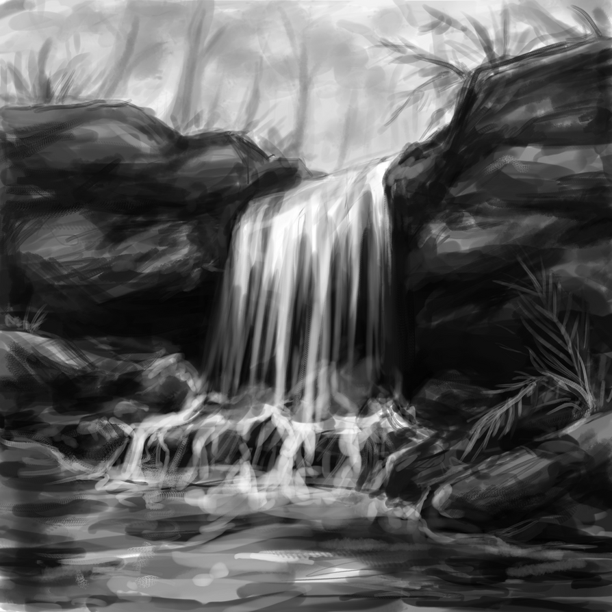 Waterfall by AnastasiaMorning