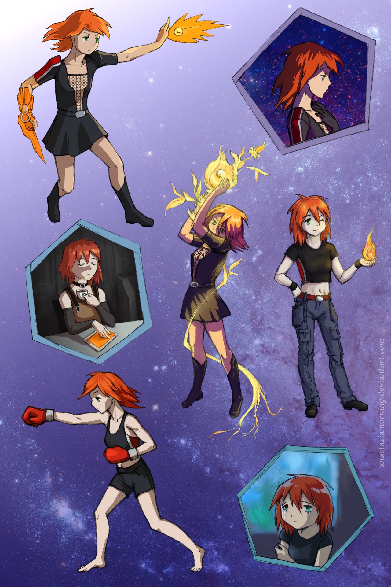 Magica Effect-Madoka Shepard sketches by AnastasiaMorning