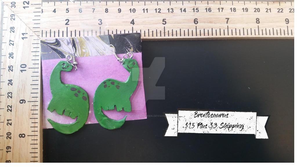 Apatasaurus Earrings by TheTrueGypsyQueen