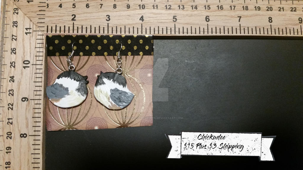 Chickadee Earrings by TheTrueGypsyQueen
