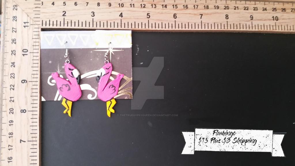 Flamingo Earrings by TheTrueGypsyQueen