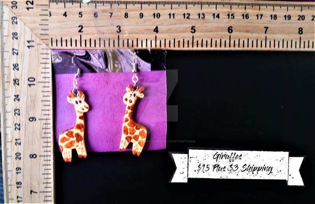 Giraffe Earrings by TheTrueGypsyQueen