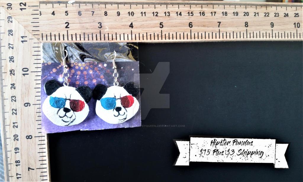 Hipster Panda Earrings by TheTrueGypsyQueen