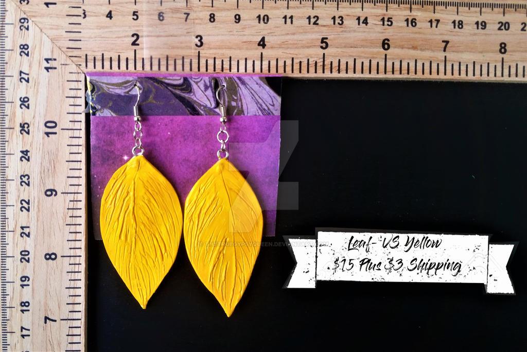Leaf Earrings by TheTrueGypsyQueen