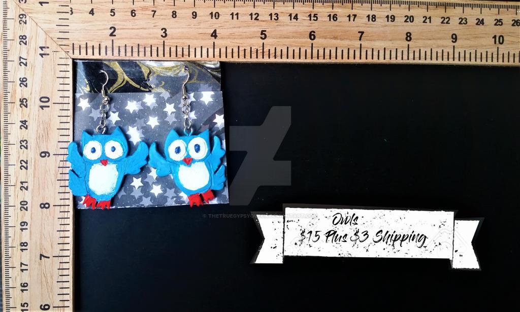 Owl Earrings by TheTrueGypsyQueen