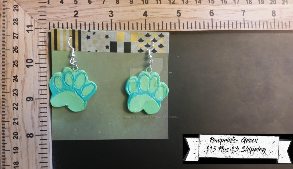 Pawprint Earrings by TheTrueGypsyQueen