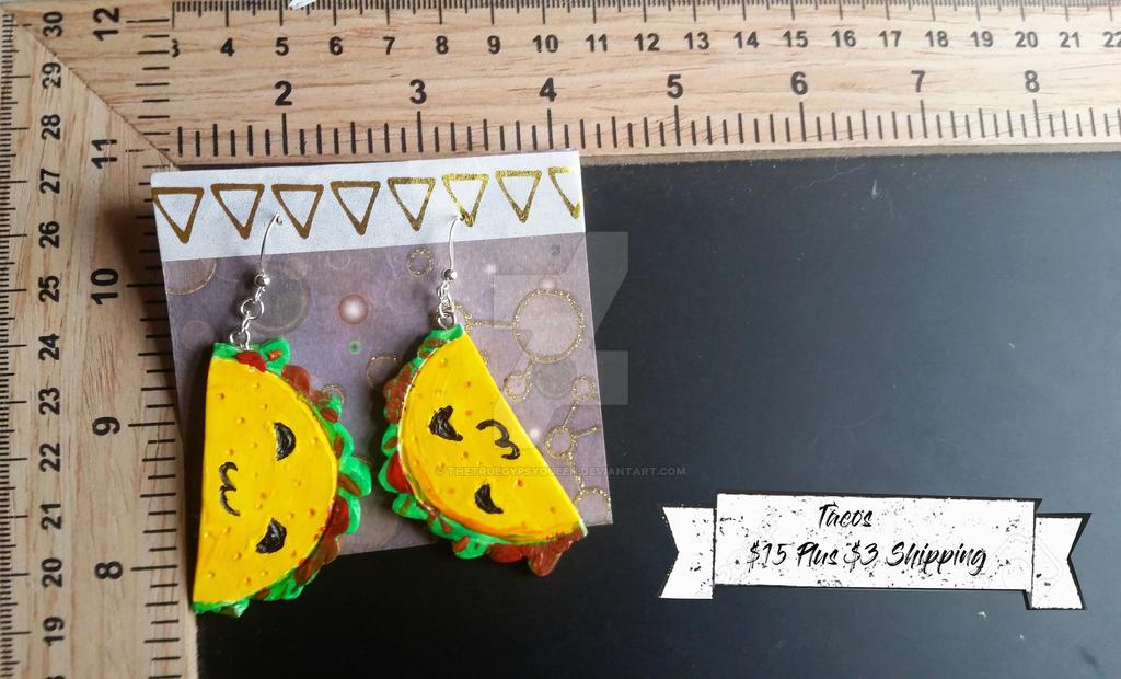 Taco Earrings by TheTrueGypsyQueen