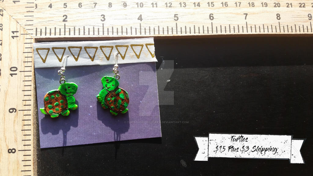 Turtle Earrings by TheTrueGypsyQueen
