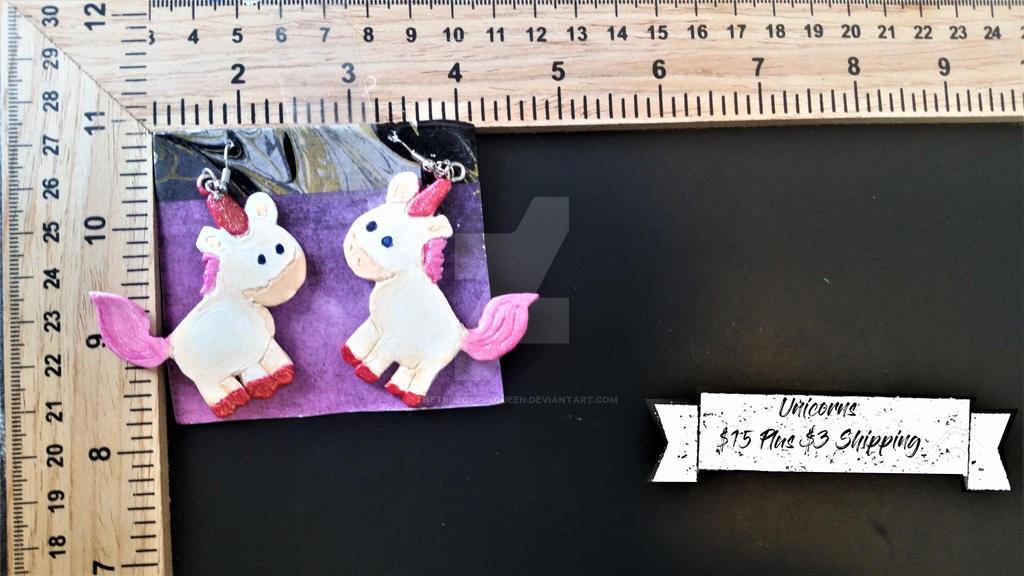Unicorn Earings by TheTrueGypsyQueen