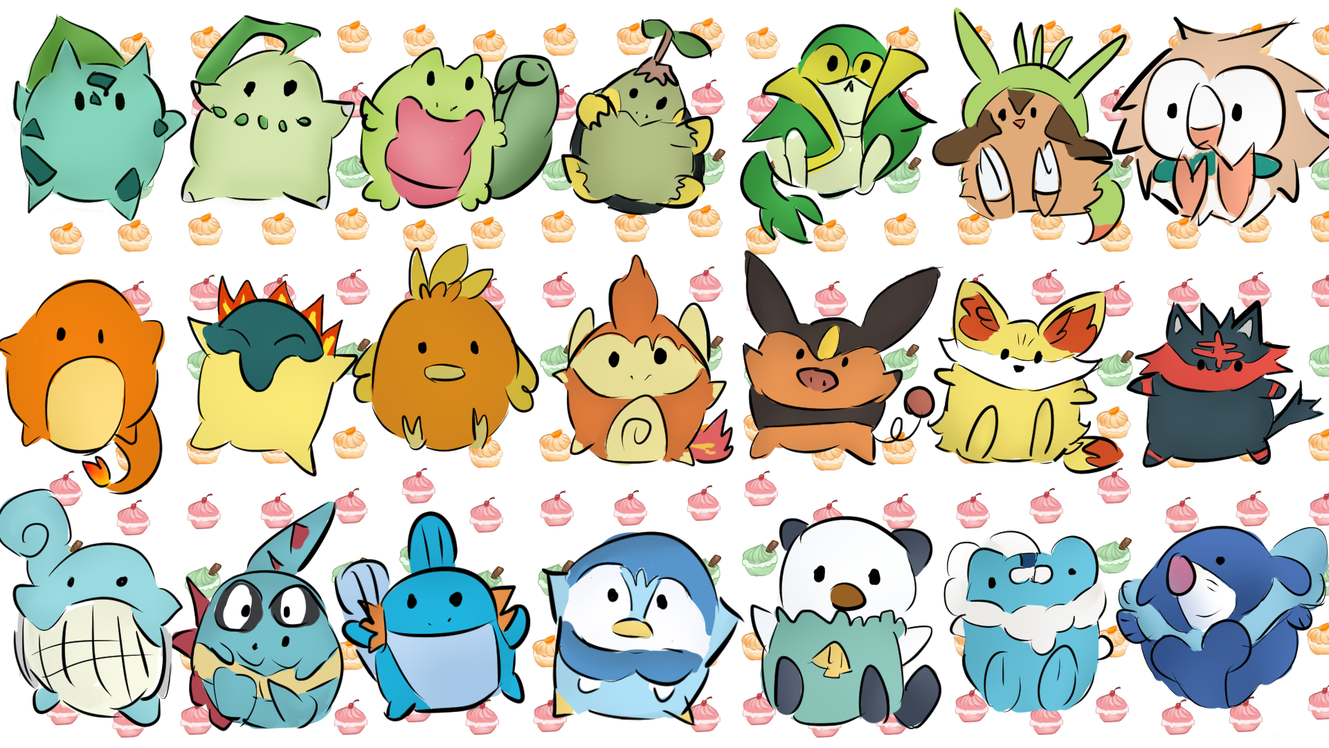alle starter pokemon