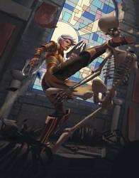 Diablo Monk fanart by M-Whistler