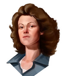 Ripley portrait study by M-Whistler