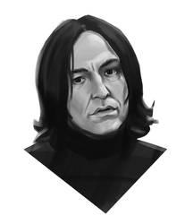 Severus Snape portrait study by M-Whistler