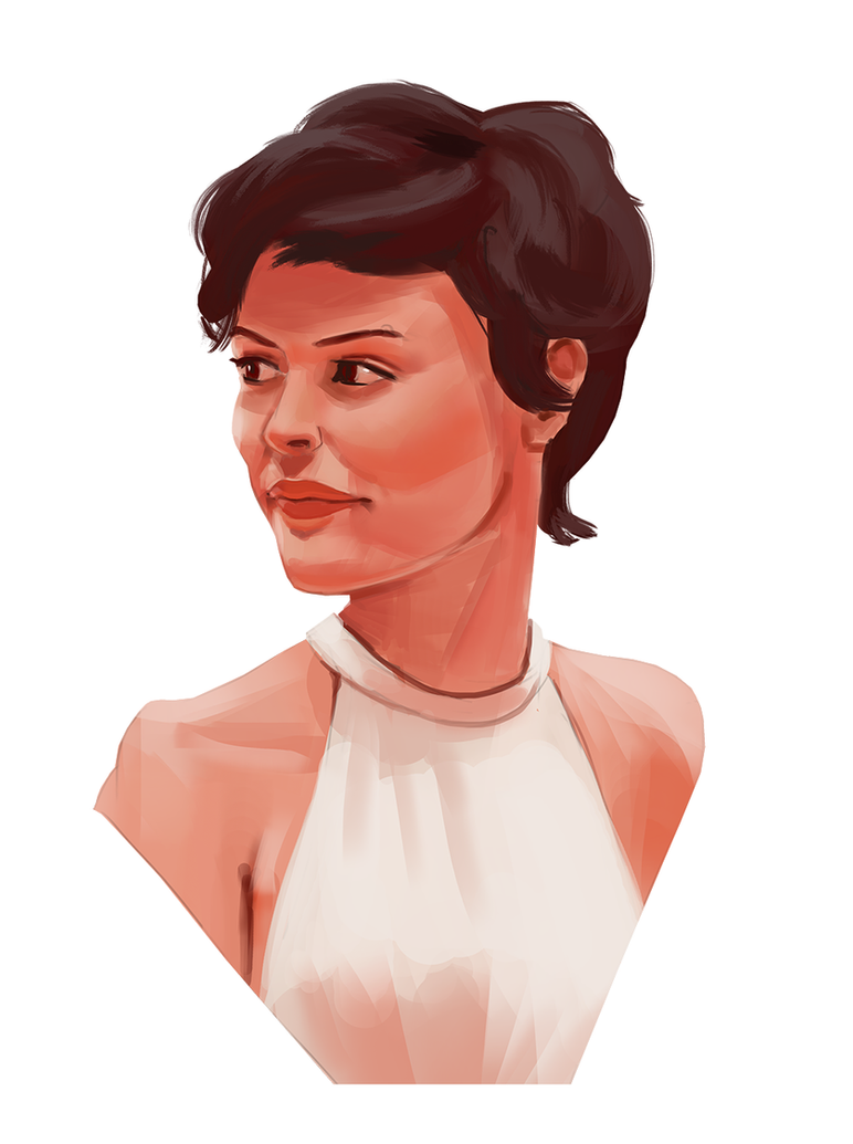 Audrey Tautou portrait study by M-Whistler