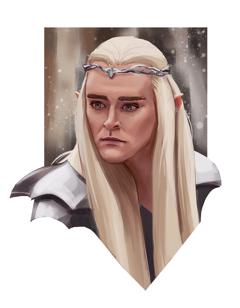 Thranduil portrait study by M-Whistler